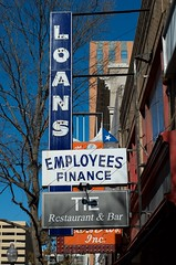 Employees Finance (dangr.dave) Tags: architecture downtown neon texas tx historic neonsign fortworth employee finance cowtown loans tarrantcounty panthercity
