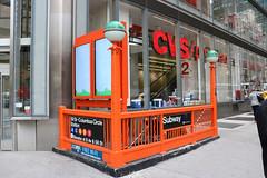Orange Entrance (jschumacher) Tags: nyc newyorkcity orange subway mta columbuscircle