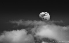 Moonlight above the clouds. (Ari Lowenthal Photography) Tags: sky blackandwhite bw moon composite clouds negativespace moonlight nightsky cloudporn