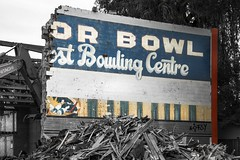 Bowling Night Is Postponed Indefinitely (itsonlykotsy) Tags: city urban citylife demolition bowling condos bowlingalley oconoorbowl