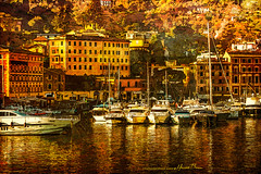 Port of Santa Margherita Ligure... (LouisAnnImage - The Photography of Howard Brown) Tags: ocean santa sea italy reflection art sailboat digital port reflections boats boat photo genoa sailboats photoart margherita ligure ligurian