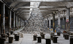 BABEL (Guillaume DELEBARRE (Guigui-Lille)) Tags: art canon grey gris modernart hangar warehouse surrealist pyramide oeuvre babel pavs artmoderne surralisme entrept cobblestons oeuvredart ef50f12 canoneos6d creativeartphotography garesaintsauveur scotthocking guillaumedelebarre garesaintsauveurlille