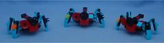 Trio (Mantis.King) Tags: lego crab scifi squad futuristic mecha wargames mech moc multiped microscale tripletchallenge legomecha mechaton mfz mf0 mobileframezero legogaming