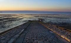 rail road (Kate Alexandra Day) Tags: road old uk blue light sea england sky orange seascape reflection beach landscape coast kent seaside sand warm soft bricks rustic whistable