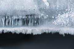 Looking through the Crack of the Ice (marie_platz) Tags: winter shadow snow ice nature japan hokkaido