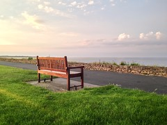 Lonely bench. (Norms360) Tags: sunset beach bench whitleybay