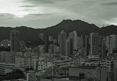 """""""beneath the lion rock """" (hugo poon - one day in my life) Tags: city urban skyline 35mm hongkong afternoon skyscrapers dusk kowloon reminiscing lionrock tokwawan xpro2"""
