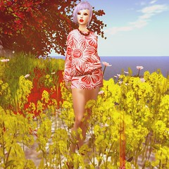 A flower among flowers (1) - Style and Addict (elhan.resident) Tags: flowers red summer sexy london fashion vintage hair necklace blog shoes dress designer events avatar birth makeup style fair retro clothes sl event secondlife bloggers designs accessories lipstick tatoo hautecouture fashionista mode maquillage addict accessoires belleza lipsticks designers eyeliner ashbourne fashionistas clothe annaa slfashion slclothes slmode loordes styleandaddict annalesca bodymesh klcouture frenchvintagecouture summertimefair