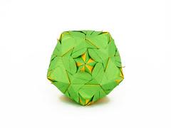 No name (masha_losk) Tags: paper origami squares symmetry foliage folded paperfolding modularorigami origamistar kusudama unitorigami