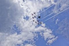 Snowbirds and CF-18 (Stephen Gardiner) Tags: ottawa ontario 2016 canadaday parliamenthill canada july1 celebration pentax k3ii 1645