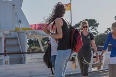 DSC_5892 (Pasquesius) Tags: girls sea ferry lady island boat barca mare lagoon tourist blonde sicily laguna saline sicilia saltponds isola turista traghetto marsala ragazze mozia bionda signora mothia stagnone motya riservanaturaledellostagnone