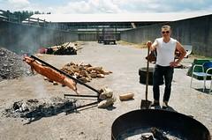 kinderhook farm, ny (aekg11) Tags: flesh fire pig smoke bbq meat roast