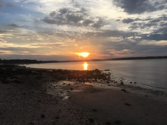 Sunset over the bay. New York Long Island sound (ocean) (mikeotalian2) Tags: newyork coldspringharbor bay water sunset