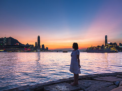 Causeway Bay Typhoon Shelter, Hong Kong (mikemikecat) Tags: causeway bay typhoon shelter dusk mikemikecat cityscapes clouds landscape nightview nightscape people              magicmoment   magicblue olympus olympusomd   panasonic