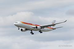 Airbus A330-300 EC-LUX Iberia 20160519 Heathrow (steam60163) Tags: heathrow heathrowairport airbusa330 iberia