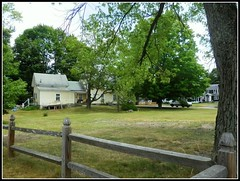 Summer Scene In Chelmsford, MA. - Photo Taken by STEVEN CHATEAUNEUF On June 30, 2016 - Some Editing Was Done On August 24, 2016 (snc145) Tags: summer seasons landscape scenery sky trees foliage lawn grass houses fence chelmsford massachusetts usa photo june302016 august242016 stevenchateauneuf autofocus thisphotorocks