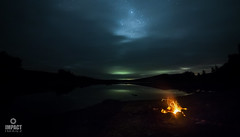 Loch Clatteringshaws (Impact Imagz) Tags: galloway dumfriesandgalloway gallowayforestpark lochclatteringshaws aurora auroraborealis northernlights merrydancers firchlis stars starlight fire campfire wildcamping loch reservoir