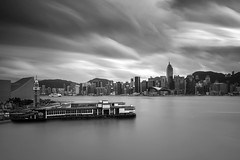 Harbour ([~Bryan~]) Tags: victoriaharbour harbour hongkong tsimshatsui tst sea daytimelongexposure ndfilter weather cloudmovement longexposure blackandwhite bw monochrome city urban cityscape urbanlandscape