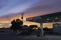 Sunset at the Sinclair Station (dcnelson1898) Tags: california williams redbluff centralvalley roadtrip interstate5 outdoors sinclair gasstation