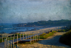 Travel (silviaON) Tags: landscape sea beach portugal caminhoportuguês textured evelynflint