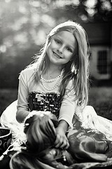 An American Girl with her Doll! (Teresa Ramella) Tags: kid girl littlegirl babydoll americangirldoll frozendress