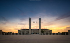 Olympiastadion Berlin (Sascha Gebhardt Photography) Tags: nikon nikkor d800 1424mm berlin lightroom hauptstadt hdr germany deutschland photoshop fototour fx cc olympia stadion sky sunset sonnenuntergang