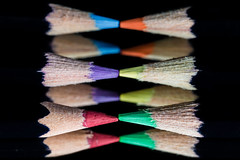 "Macro Mondays ""PPEP"" (Michael J P) Tags: macromondays ppep nikon nikond610 derwent england nikkor60mmf28macro pencils complementarycolours mirror reflection black red green blue purple yellow orange"