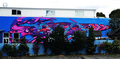 Squidzilla by Klutch (wiredforlego) Tags: graffiti mural streetart urbanart publicart portland oregon pdx klutch