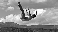 Falling (5of7) Tags: falling dream female blackandwhite outdoor fairmonthotsprings fav 10fav fall freefall stuckonart 12fav