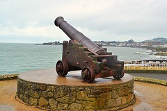Boooom!!! (Michael C. Hall) Tags: ireland sea bronze coast war europe cannon amenity dunlaoghaire crimean