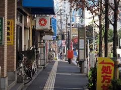 (  / Yorozuna) Tags: road city japan tokyo shinjuku sidewalk            wakamatsukawada wakamatsuchou kawadachou