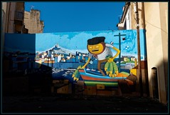 Binho (Gramgroum) Tags: street art rio graffiti marseille poisson mur peche vieuxport barque panier fbio lepanier binho cerqueira bonnemere