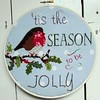 "Jolly Robin Christmas Hoop • <a style=""font-size:0.8em;"" href=""http://www.flickr.com/photos/29905958@N04/15516643697/"" target=""_blank"">View on Flickr</a>"