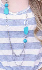 Glimpse of Malibu Blue Necklace K1 P2710-4