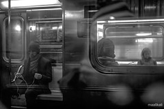 Reflections of Everyday Life - Coming and Going (maalik0915) Tags: nyc blackandwhite motion brooklyn 35mm subway downtown nikond800 sigma35mmart