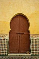 Wooden Door (Victoria Lea B) Tags: door tile mosaic morocco zellij mausoleumofmoulayismailmeknes