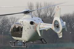 G-SENS - 2009 build Eurocopter EC135 T2+, inbound to the Heliport at Barton (egcc) Tags: manchester capital helicopter barton woodstock saville eurocopter heliport ec135 cityairport turbomeca arrius 0833 ec135t2 egcb gsens woodstock25