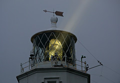 Lizard Lighthouse (Raphooey) Tags: uk light england lighthouse mist southwest west tower glass lamp weather fog canon lens point eos cornwall ray south lizard beam most gb fresnel weathervane lantern horn vane southerly 70d meneage
