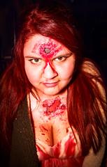 Nurse Zombie (EightDreams) Tags: chile halloween girl canon valparaiso zombie redhead nurse tamron 1750mm t5i