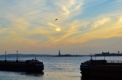 New York Harbor Sunset, 11.09.14 (gigi_nyc) Tags: nyc newyorkcity autumn sunset statueofliberty batteryparkcity newyorkharbor