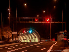 Tunnel view III... (Nick Papakonstantinou) Tags: road night lights tunnel greece volos sonyf828 thessalia magnesia