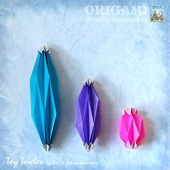 Origami Festive Ornaments: Toy-Icicles (Oriland) Tags: christmas holiday toronto ontario canada paper paperart book origami decoration paperback ornaments おりがみ 折り紙 paperdesign orilandcom origamibykatrinandyurishumakov orilandebook origamifestiveornaments toyicicles
