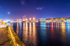 the harbour lights, St. John's, Newfoundland (tuanland) Tags: lighting city longexposure panorama canada reflection fall skyline night port newfoundland landscape evening twilight nikon scenery downtown cityscape waterfront harbour dusk wide stjohns panoramic clear bluehour nfld nightfall atlanticcanada d600 stjohnsharbour newfoundlandandlabrador downtownstjohns nikond600
