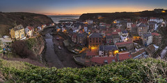Staithes Sunrise (Katybun of Beverley) Tags: england sunrise coast village harbour cottage coastal northeast northyorkshire staithes