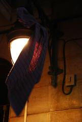 Drying a towel in Barcelona (evelinova) Tags: barcelona spain streetlamp towel espana raval