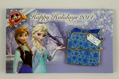 Disneyland Happy Holidays 2014 Anna and Elsa Gift from Olaf Pin - LE2000 - On Backing Card - Closed (drj1828) Tags: anna holiday olaf frozen us pin disneyland gift purchase limitededition dlr elsa disneypintrading le2000