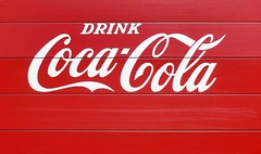 """Not even a """"please"""" ... (Jer*ry) Tags: red truck design marketing graphic drink beverage coke advertisement americana cocacola imperativeform"""