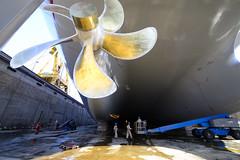 Refit day 9 105a (Richard_Turnbull) Tags: nikon ship blocks shipyard propeller drydock qatar d600 refit raslaffan nkom qflex alkaraana dockbottom twinpropellers