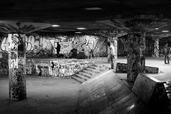 South Bank Skaters (andyleates) Tags: bw london andy 50mm graffiti nikon skating andrew southbank d610 andyleates leates andrewleates