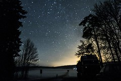 Highway to the Universe (Alexander Babl) Tags: road trees night truck dark stars long exposure nightsky